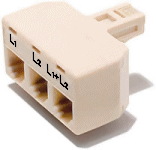 Line 1 and Line 2 breakout adapter